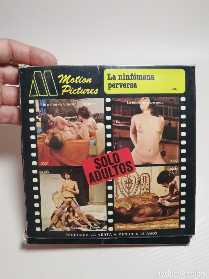 PELICULA SUPER 8 MM--- 60 METROS-- MOTION PICTURES--LA NINFOMANA PERVERSA---EROTICA-PORNOGRAFIA (Cine - Películas - Super 8 mm)