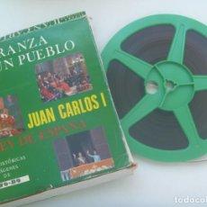 Cine: PELICULA SUPER 8: JUAN CARLOS I REY DE ESPAÑA , ESPERANZA DE UN PUEBLO. EDICION ESPECIAL NO-DO. Lote 276052538