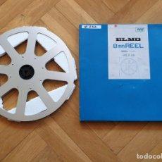 Cine: BOBINE ET BOITE ELMO ORIGINAL - VINTAGE POUR FILM ET PROJECTEUR SUPER 8 MM, 360 METRES # 232. Lote 279497043