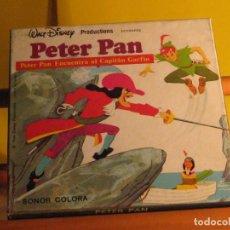 Cine: PETER PAN. PETER PAN ENCUENTRA AL CAPITÁN GARFIO. COLOR Y SONIDO.. Lote 289468463