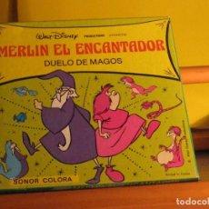 Cine: MERLIN EL ENCANTADOR. DUELO DE MAGOS. SIPER 8. COLOR Y SONIDO. Lote 289468883