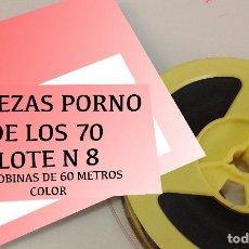 Cine: SUPER OFERTA LOTE N 8 PROEZAS PORNO DE LOS AÑOS 70 EN 3 BOBINAS DE 60 METROS SUPER 8 COLOR. Lote 289829893
