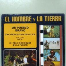 Cine: EL HOMBRE Y LA TIERRA. UN PUEBLO BRAVO. FELIX RODRIGUEZ DE LA FUENTE. SUPER 8 MM. Lote 295536868