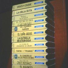Cine: COLECCION DE 14 CINTAS VHS DE LAS AVENTURAS DE TINTIN (VER FOTOS). Lote 27360035