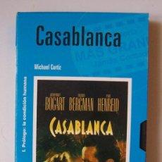 Cine: CASABLANCA - VHS ORIGINAL COLECCIÓN EL MUNDO Nº4 - 99 MINUTOS. Lote 8783277