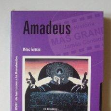 Cine: AMADEUS - VHS ORIGINAL COLECCIÓN EL MUNDO Nº58 - 154 MINUTOS. Lote 8783952