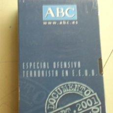 Cine: ESPECIAL OFENSIVA TERRORISTA EN E.E.U.U. FORMATO ORIGINAL VHS.DOCUMENTO HISTORICO SEPTIEMBRE 2001 . Lote 51173683
