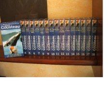 Cine: COLECCIÓN EL MUNDO DESCONOCIDO DE JACQUES COUSTEAU. LOTE 18 PELÍCULAS VHS COMPLETA. Lote 13210139