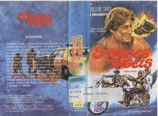 ANGELES SALVAJES · BANDAS MOTORIZADAS / VIDEO VHS · FALCONETTI · ROAD MOVIE / QUINQUIS DELINCUENCIA (Cine - Películas - VHS)