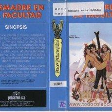 Cine: DESMADRE EN LA FACULTAD (1978) VHS. COMEDIA SEXY [SIGGI GOTZ] TEEN MOVIE.. Lote 23948244