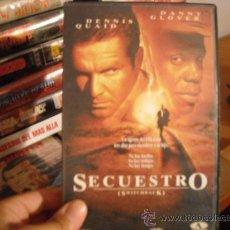 Cine: SECUESTRO--VHS--. Lote 14866308