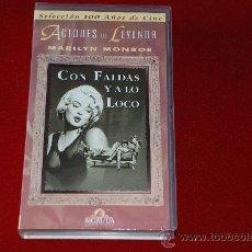 Cine: CON FALDAS Y A LO LOCO VHS. Lote 23328926
