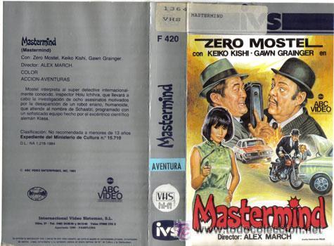 MASTERMIND (1976) VHS. ZERO MOSTEL, KEIKO KISHI, GAWN GRAINGER (Cine - Películas - VHS)