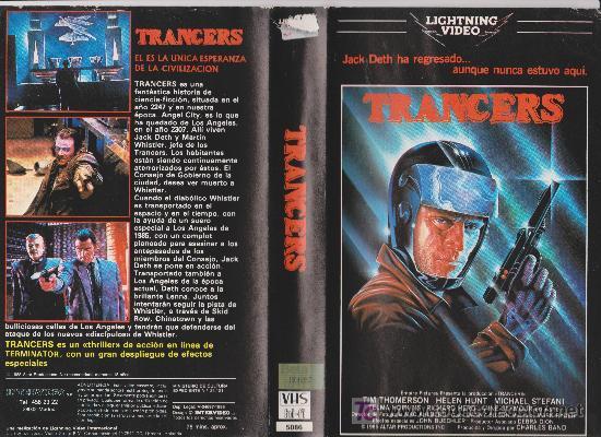 TRANCERS (1985) VHS. SC FICCIÓN / CINTA ORIGINAL DESCATALOGADA (Cine - Películas - VHS)