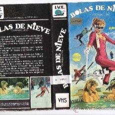 Cine: BOLAS DE NIEVE---VHS--VENTA MINIMA 10 EUROS. Lote 16872446