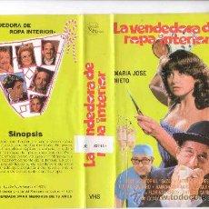 Cine: LA VENDEDORA DE ROPA INTERIOR VHS. Lote 18559640