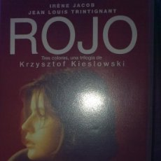 Cine: ROJO (KRZYSZTOF KIESLOWSKI, 1992) - EDICIÓN VHS ORIGINAL VIDEOCLUB CAJA GRANDE - IRENE JACOB - RARA. Lote 25588995