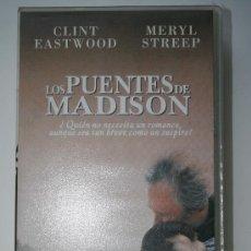 Cine: VHS LOS PUENTES DE MADISON / CLINT EASTWOOD / MERYL STREEP / 1995. Lote 26926064