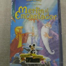 Cine: MERLIN EL ENCANTADOR WALT DISNEY FORMATO VHS NUEVO. Lote 26307959