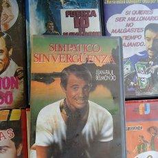 Cine: SIMPÁTICO SINVERGUENZA (VHS) JEAN PAUL BELMONDO / MUY DESCATALOGADA. Lote 25172826