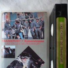 Cine: LAS CALLES DE FRANKFURT (1981) VHS.. Lote 18156194
