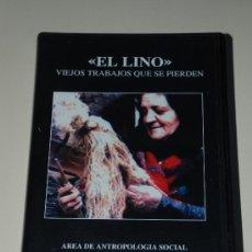 Cine: VHS DOCUMENTAL EL LINO, VIEJOS TRABAJOS QUE SE PIERDEN. UNIVERSIDAD DE VALLADOLID. Lote 27207084