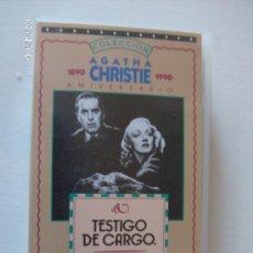 Cine: PELICULA VHS TESTIGO DE CARGO. Lote 26421522