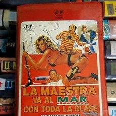 Cine: VHS\. LA MAESTRA VA AL MAR CON TODA LA CLASE • DE REGALO DVD GRATIS • ALVARO VITALI, LINO BANFI. Lote 26621942