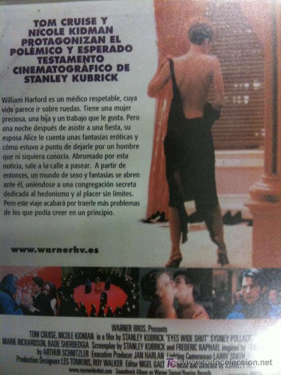 Cine: VHS-VIDEO-EYES WIDE SHUT-TOM CRUISE Y NICOLE KIDMAN DE STANLEY KUBRICK-NUEVA Y PRECINDADA - Foto 2 - 26781144