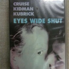 Cine: VHS-VIDEO-EYES WIDE SHUT-TOM CRUISE Y NICOLE KIDMAN DE STANLEY KUBRICK-NUEVA Y PRECINDADA. Lote 26781144