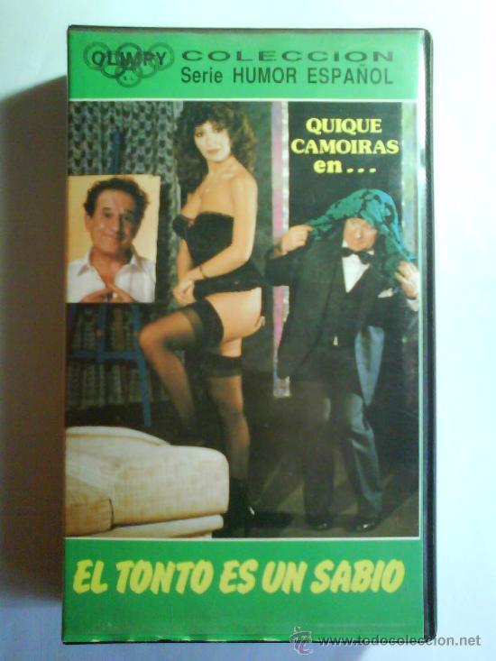 PELICULA COMEDIA (TEATRO) - EL TONTO ES UN SABIO - QUIQUE CAMOIRAS (Cine - Películas - VHS)