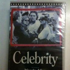 Cine: VHS-CELEBRITY-COMEDIA DE WOODY ALLEN-LEONARDO DICAPRIO-CHARLIZE THERON-NUEVA PRECINTADA. Lote 25978551