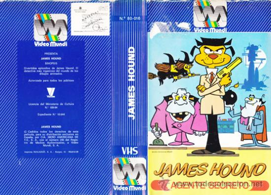 JAMES HOUND. AGENTE SECRETO « CINTA VHS » · EDICION VIDEO MUNDI ·1966 · DIBUJOS ANIMADOS (Cine - Películas - VHS)