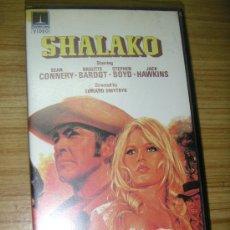 Cine: SHALAKO (1968) VHS - SPAGUETTI WESTERN - SEAN CONNERY - BRIGITTE BARDOT. Lote 25726099