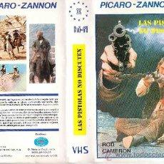 Cine: LAS PISTOLAS NO DISCUTEN - ROD CAMERON - SPAGUETTI WESTERN / VHS. Lote 21091780