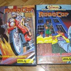 Cine: 2 PELICULAS VHS ROBOCOP DIBUJOS FILMAX 1990 40´ -LA ESPOSA DE LA MUERTE Y LA NOCHE DEL ARQUER0. Lote 27210812