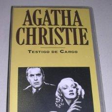 Cine: TESTIGO DE CARGO - TYRONE POWER - MARLENE DIETRICH - C LAUGHTON - POCAS SEÑALES DE USO. Lote 24714871