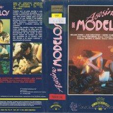 Cine: VHS\. ASESINO DE MODELOS (DIR: ERICK SANTAMARIA). Lote 21523809
