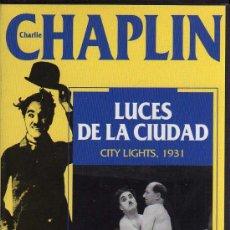Cine: VHS - CHARLIE CHAPLIN - Nº 3 LUCES DE LA CIUDAD - CITY LIGHTS, 1931. Lote 21585322