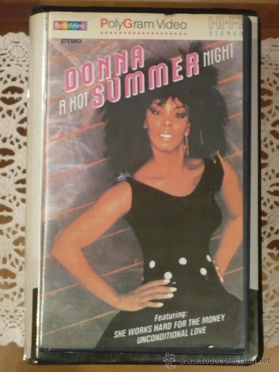 DONNA SUMMER : A HOT SUMMER NIGHT (1983) VHS. (Cine - Películas - VHS)