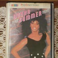 Cine: DONNA SUMMER : A HOT SUMMER NIGHT (1983) VHS.. Lote 21640850