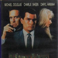 Cine: VHS - WALL STREET - MICHAEL DOUGLAS / CHARLIE SHEEN / DARYL HANNAH. Lote 21677486