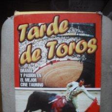 Cine: VHS - TARDE DE TOROS - EL LITRI Y SU SOMBRA , EL RELICARIO , CURRITO DE LA CRUZ Y APRENDI . A MORI. Lote 34612361