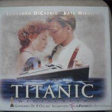 Cine: TITANIC CON LEONARDO DICAPRIO Y KATE WINSLET - CAJA CARTON CON DIAPOSITIVAS. Lote 23239959