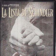 Cine: VHS - LA LISTA DE SCHINDLER - STEVEN SPIELBERG. Lote 24528805