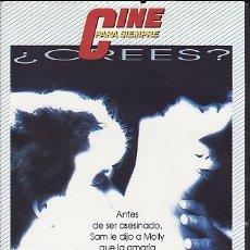 Cine: VHS - GHOST - MAS ALLA DEL AMOR. Lote 24528861