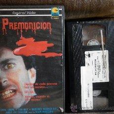 Cine: PREMONICION ---TERROR VHS --DIR:ALAN RUDOLPH -VISIONES DE CRIMES SANGRIENTOS. Lote 26740888