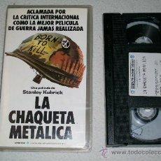Cine: LA CHAQUETA METALICA - STANLEY KUBRICK - VHS. Lote 25486320