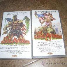Cine: PELICULA VHS THE TOXIC AVENGER 2ª PARTE Y DE REGALO OTRA EL VENGADOR TOXICO 1ª PARTE. Lote 26428965