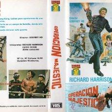 Cine: OPERACIÓN MAJESTIC | VIDEO VHS | RICHARD HARRISON | HONG KONG (1985) ACCIÓN | DIRECTOR: GODFREY HO. Lote 26494491